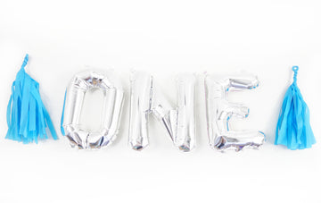 ONE letter balloon kit