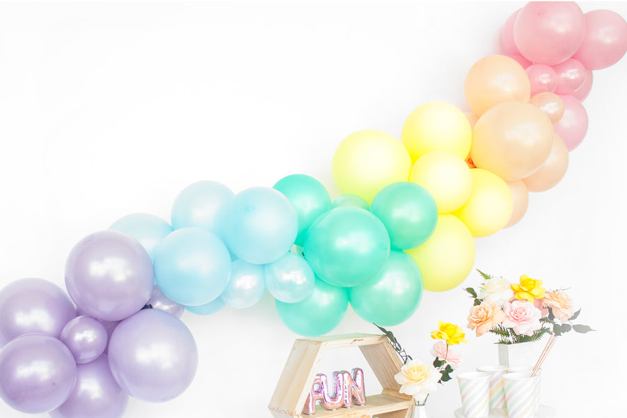 Balloon Garland Kit - Pastel Rainbow - DIY