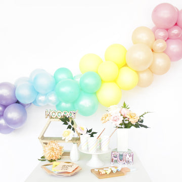 Balloon Garland DIY Kit in Pastel Rainbow