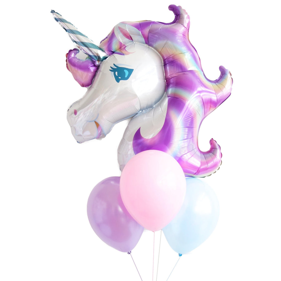 Pastel Rainbow Unicorn Balloon