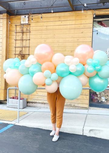 Peach Mint Balloon Garland To-Go (No Install)