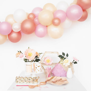 Balloon Garland DIY Kit in Rose Gold Blossom