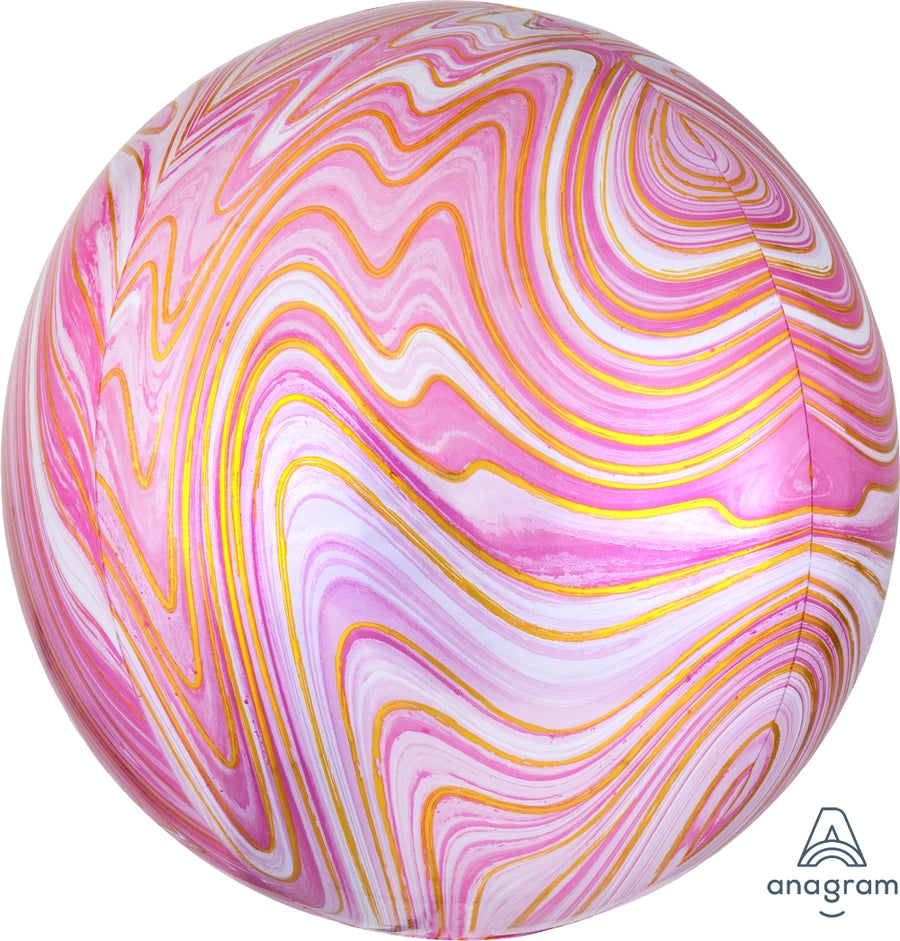 Pink Marble Orb Balloon