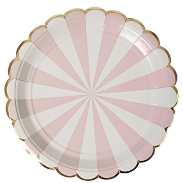 Pink Scallop Plates