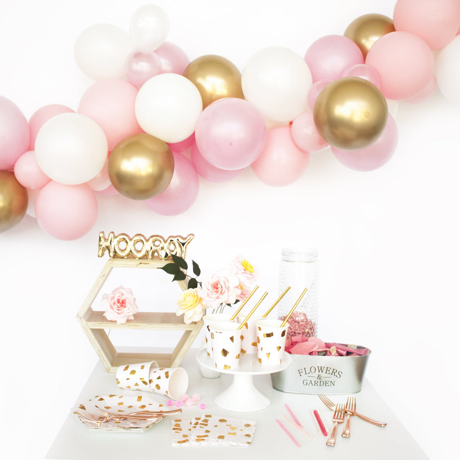 Balloon Garland Kit - Pink and Gold -  DIY