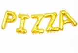 PIZZA letter balloon kit