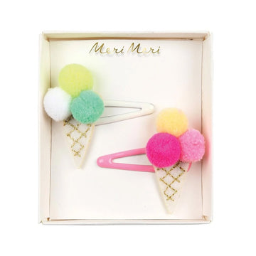 pom ice cream hair clips