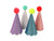 Pom Pom Glitter Party Hats