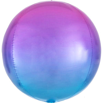 Ombre Magenta-Purple-Blue Orb Balloon