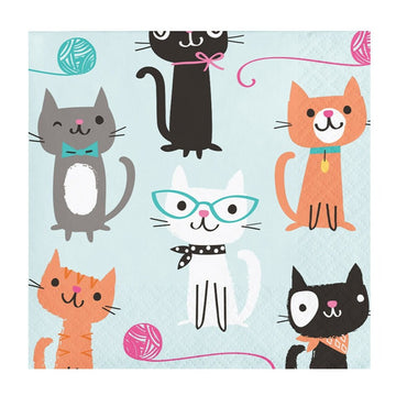 cat kitten print napkins