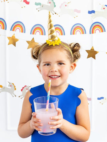 Rainbow Stripe Reusable Straws