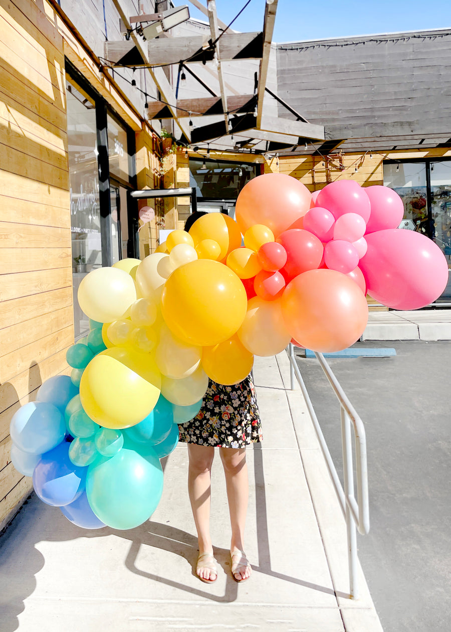 Rainbow Balloon Garland To-Go (No Install)