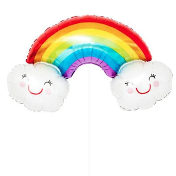 Rainbow Cloud Mylar Balloon