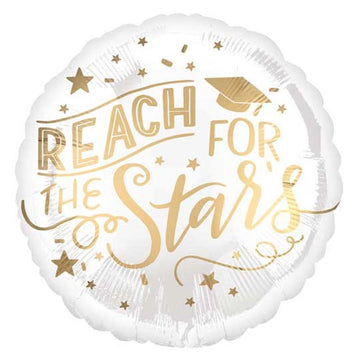 gold reach for the stars balloon
