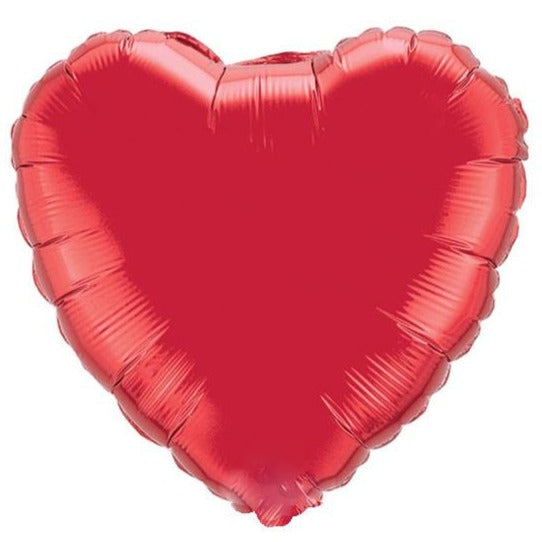 red heart shaped balloon