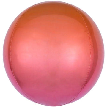 Ombre Pink-Orange Orb Balloon