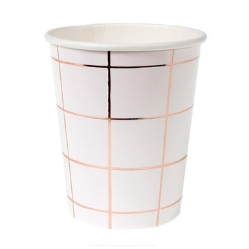 rose gold grid paper cup