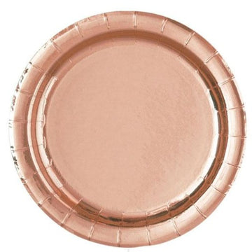 rose gold paper plate