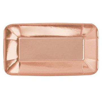 rectangle rose gold paper plate