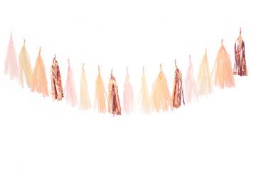 Rosé All Day Tassel Garland