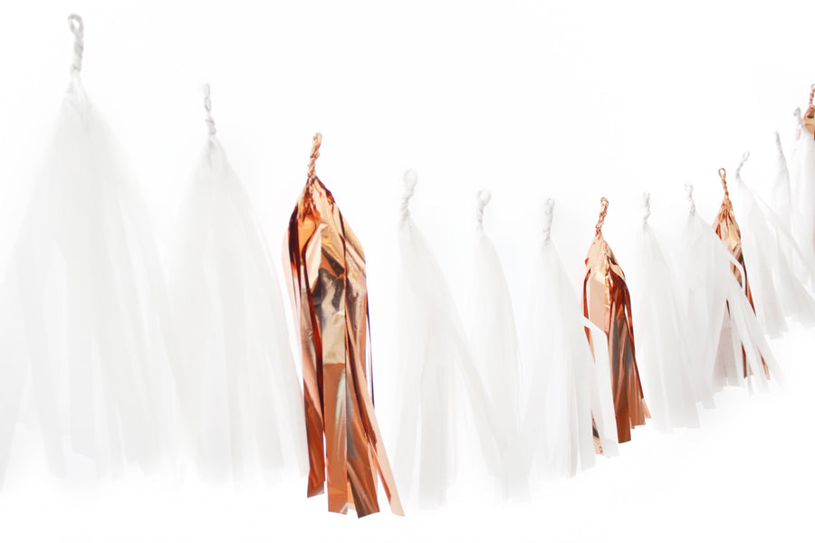 Tassel Garland - Rose Gold Snow