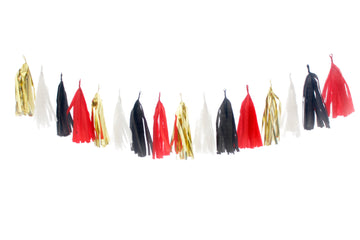 Tassel Garland - Santa's Suit / Minnie Mouse