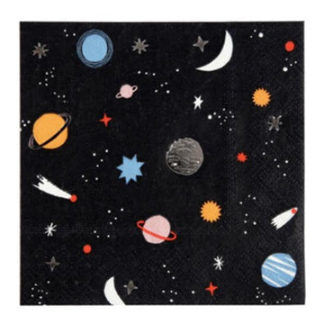 planets stars and space napkins