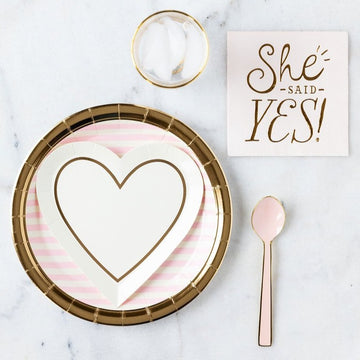 she said yes party decoration spread