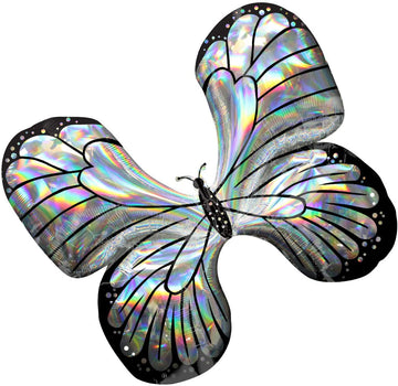 silver butterfly balloon
