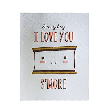 s'more food pun greeting card