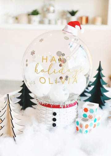 Snow Globe Balloon in Snowball [Personalized]
