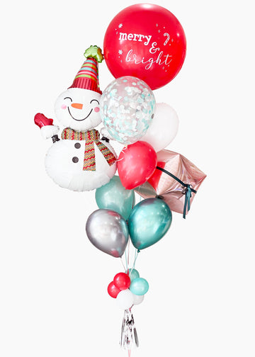 70s Snowman | Holiday Balloongram