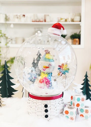 Snow Globe Balloon in Frosty | Oh Shiny x Dots
