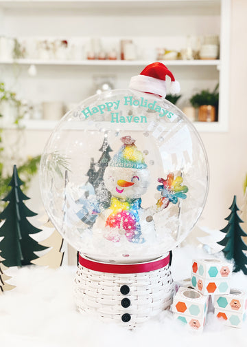Snow Globe Balloon in Frosty [Personalized] | Oh Shiny x Dots
