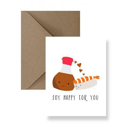 soy sauce shrimp nigiri soy happy for you card