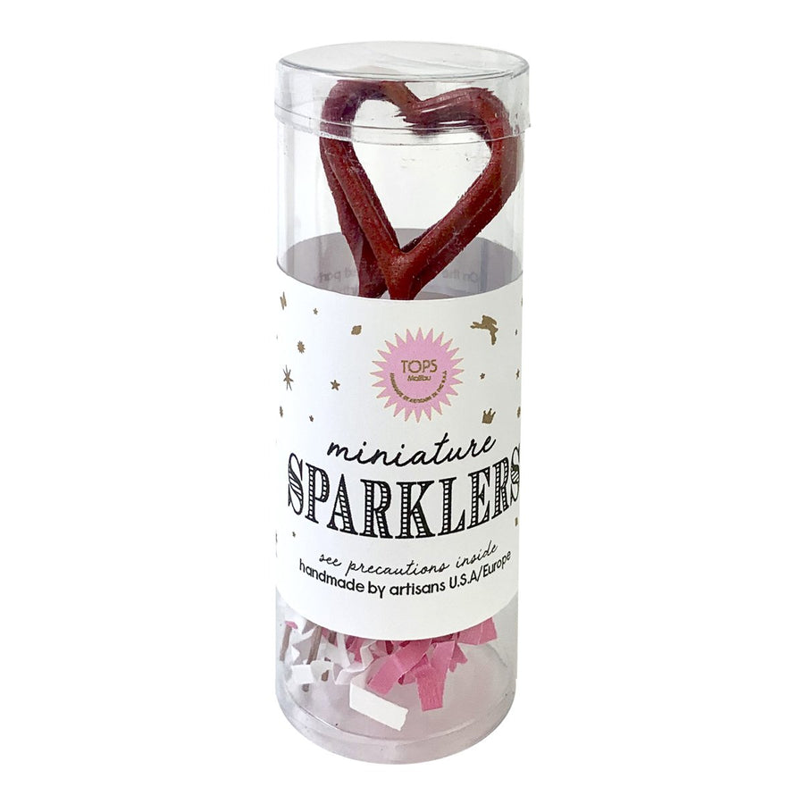 Mini Red Heart Sparkler Set