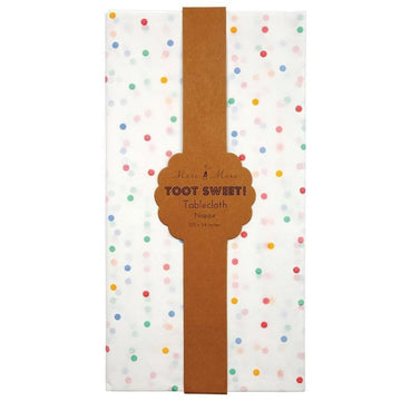 Rainbow Spotty Paper Tablecloth