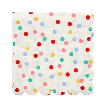 colorful spotted napkins