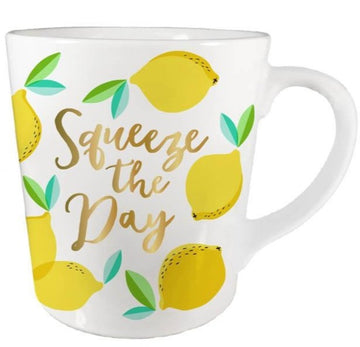 lemon squeeze the day mug