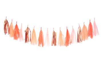Summer Peach Tassel Garland