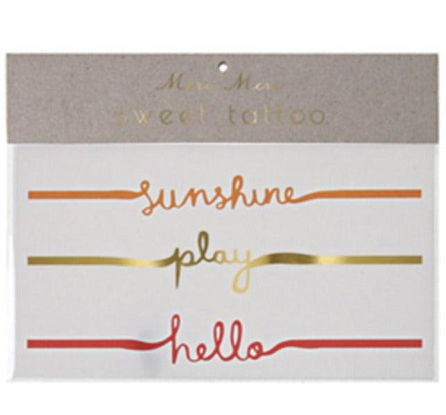 Sunshine Play Tattoos