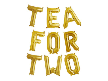 TEA FOR TWO letter balloon kit