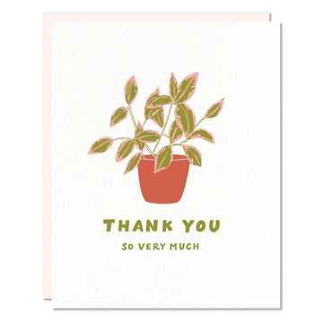 thank you so much plant greeting card