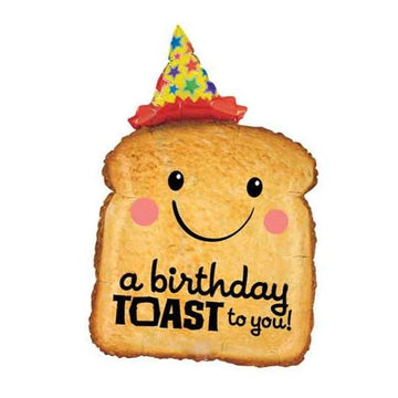 birthday hat smiling toast balloon
