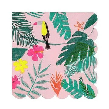 Pink Tropical Toucan Napkins