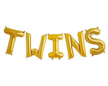 TWINS letter balloon kit