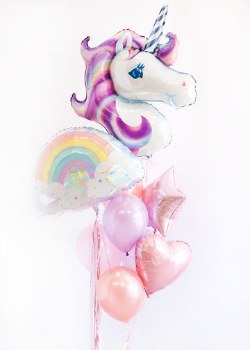 Magical Rainbow Unicorn Balloongram