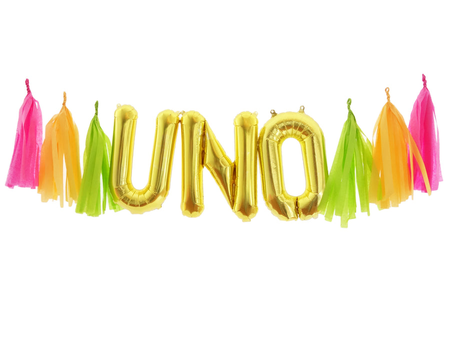 UNO Gold Balloon Banner Kit