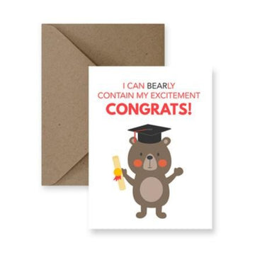 Bearly Contain My Excitement, Congrats Card