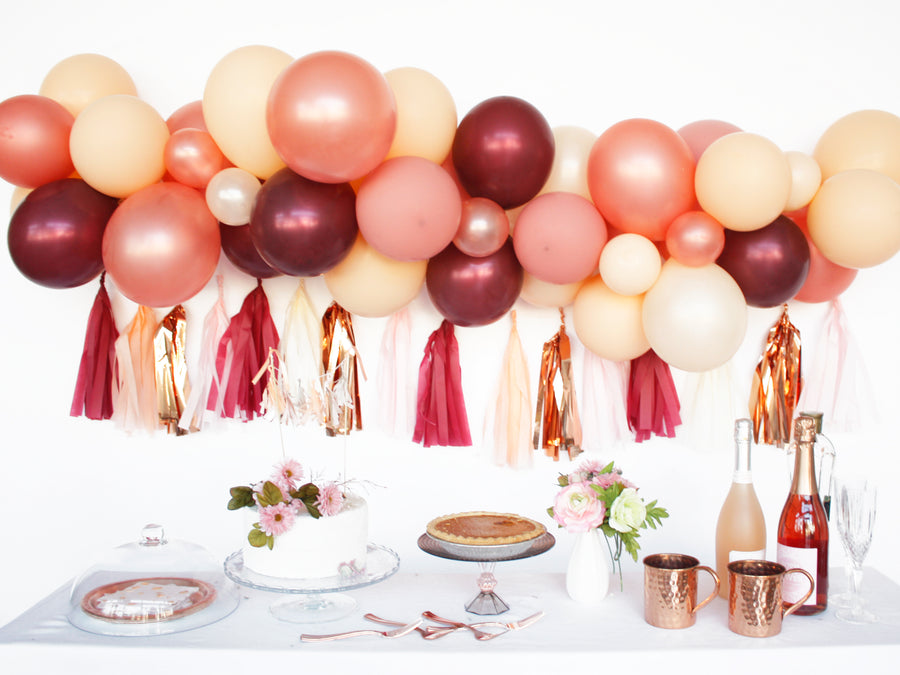 Balloon Garland Kit - DIY Wine & Blush for Friendsgiving Thanksgiving Fall